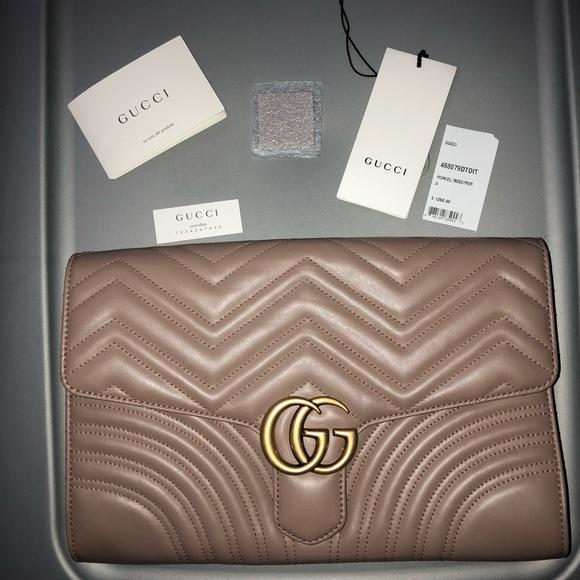 77feffbc7d09 Gucci Bags | Gg Marmont Clutch | Poshmark